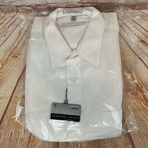 Geoffrey Beene White Button up Shirt 16.5 34/35 L